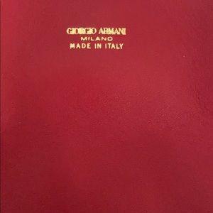 Giorgio Armani Gorgeous Red Gold Shoulder Bag New